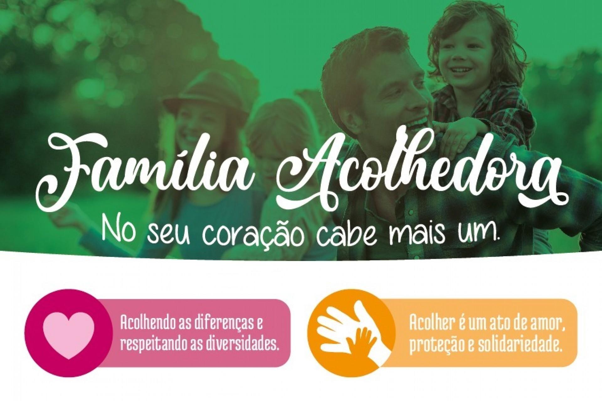 Aberta seleção para famílias interessadas em participar do Programa de Acolhimento Familiar