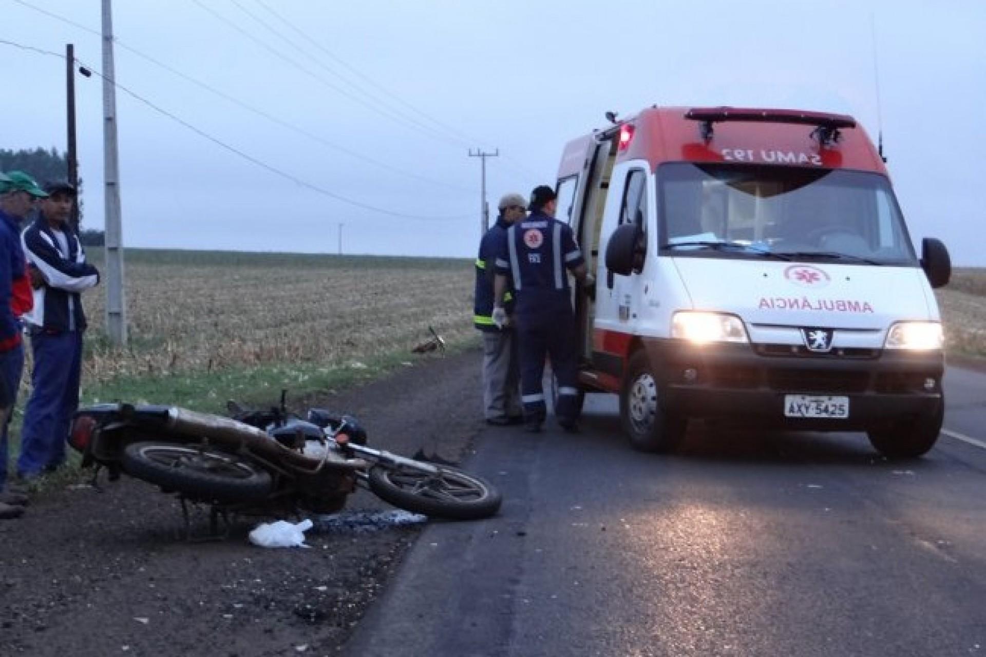 Acidente de trânsito na PR 495 deixa ciclista gravemente ferido