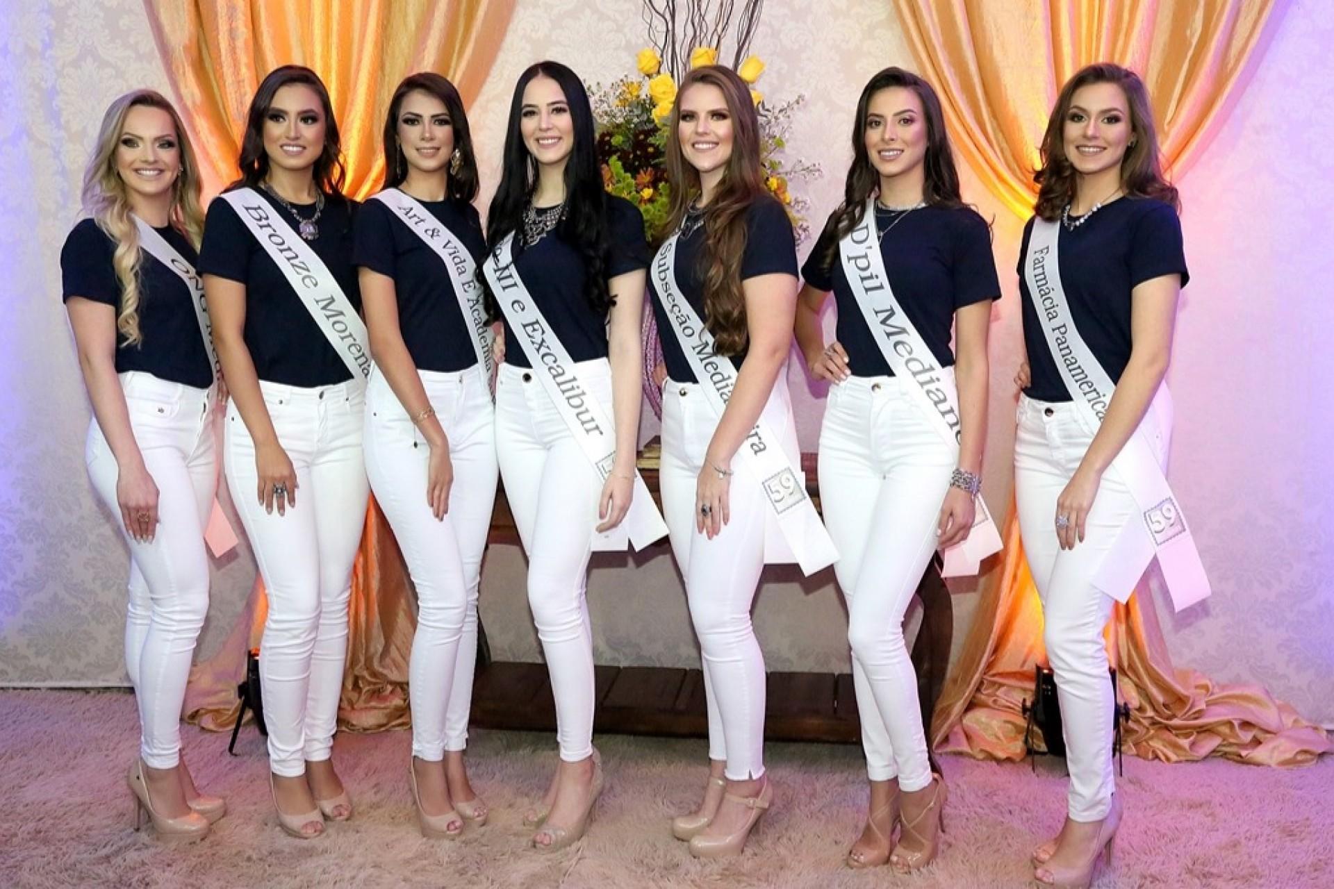 Apresentação das candidatas à Miss Medianeira abre oficialmente as festividades de aniversário