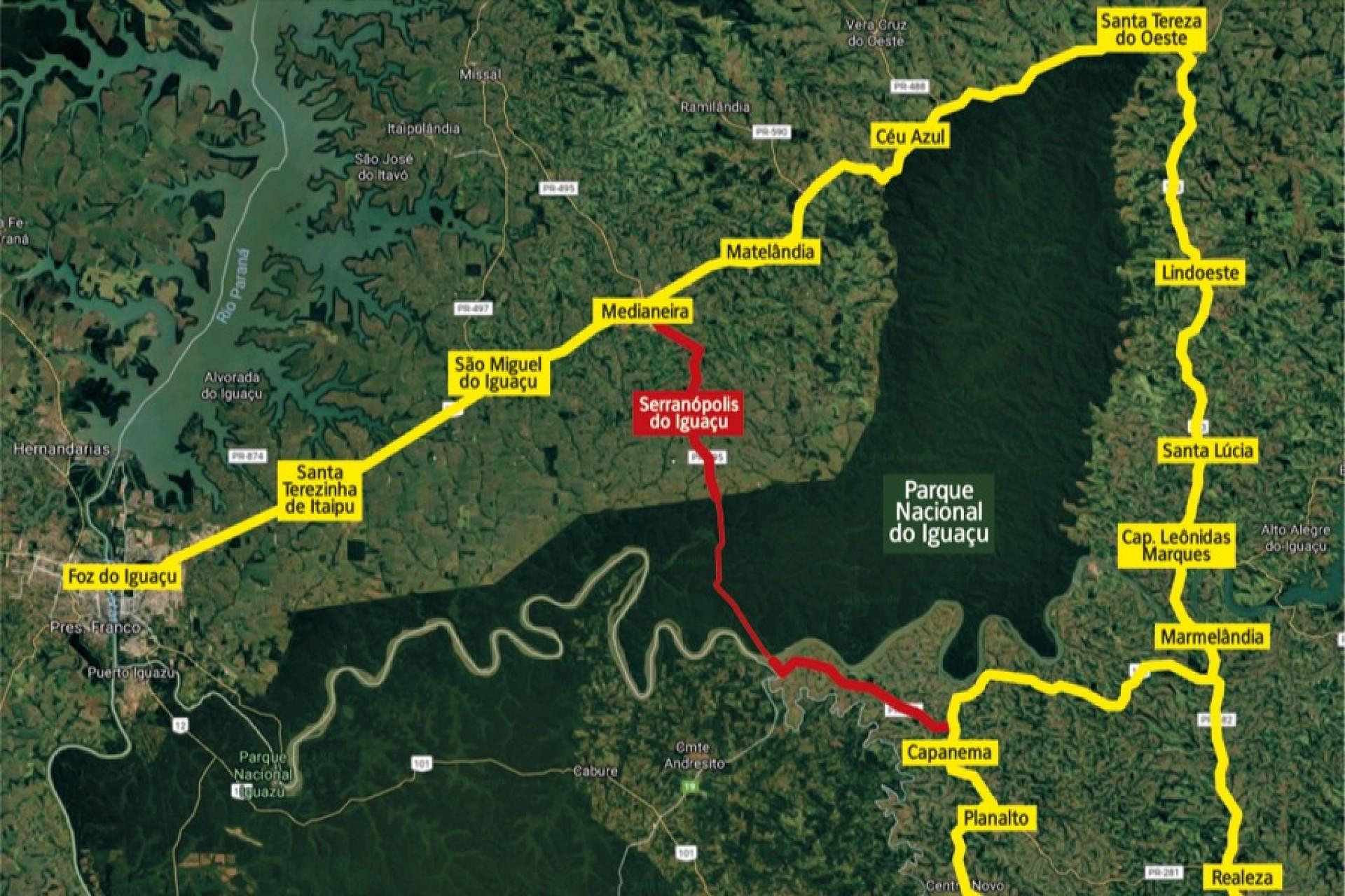 Câmara aprova urgência para criação de estrada no Parque Nacional do Iguaçu