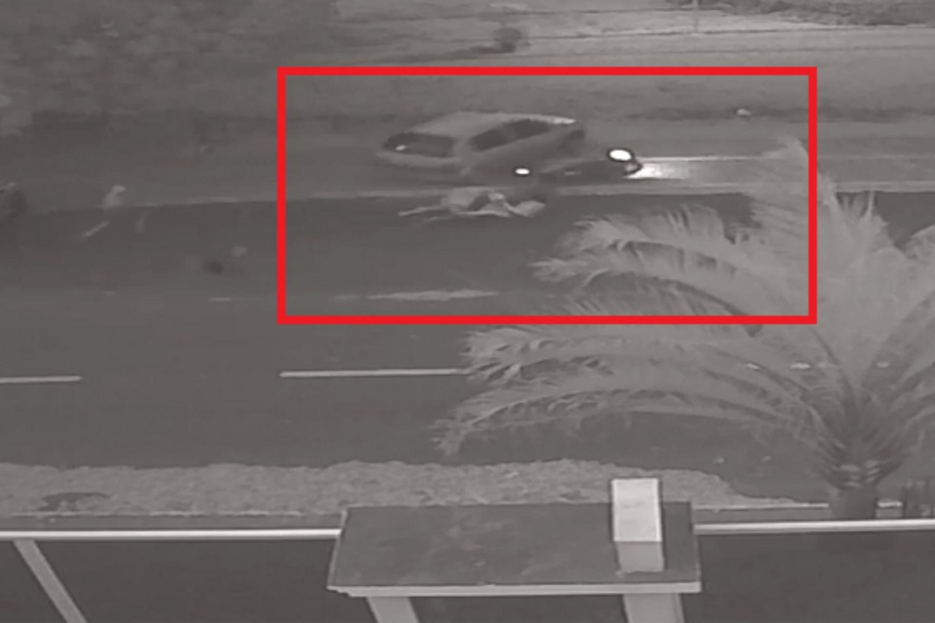 Casal é atingido por veículo no Centro de Itaipulândia