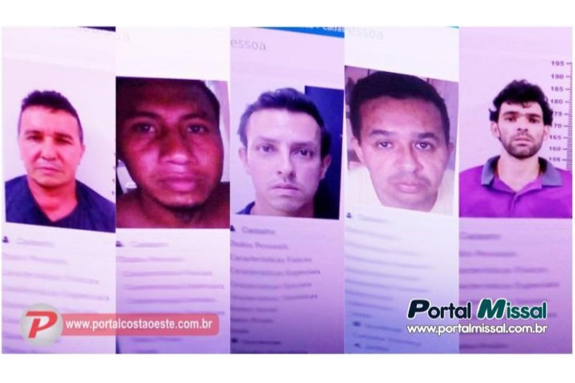 Cinco presos fogem da cadeia de São Miguel do iguaçu