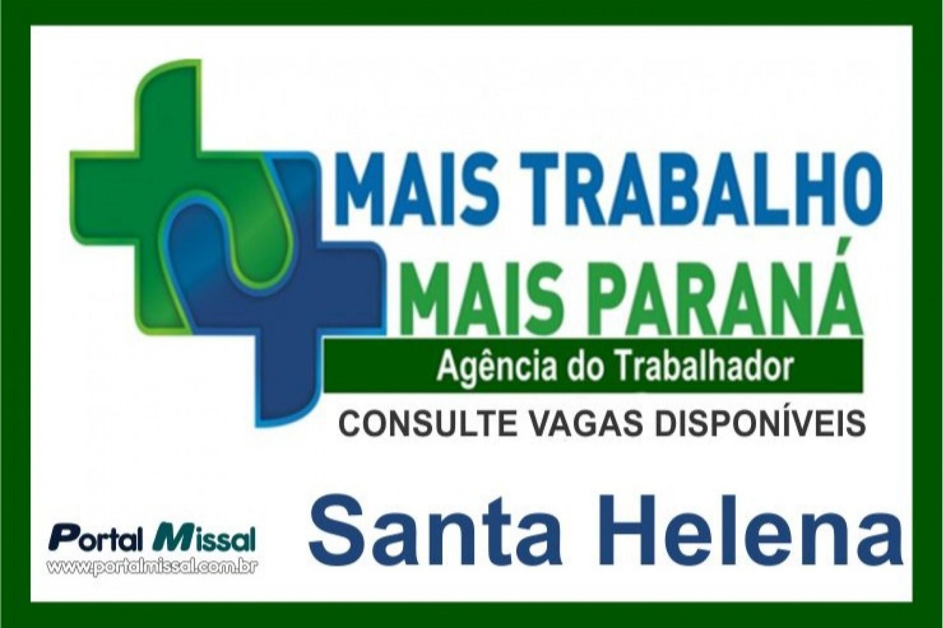 Confira as vagas de emprego da Agência do Trabalhador de Santa Helena