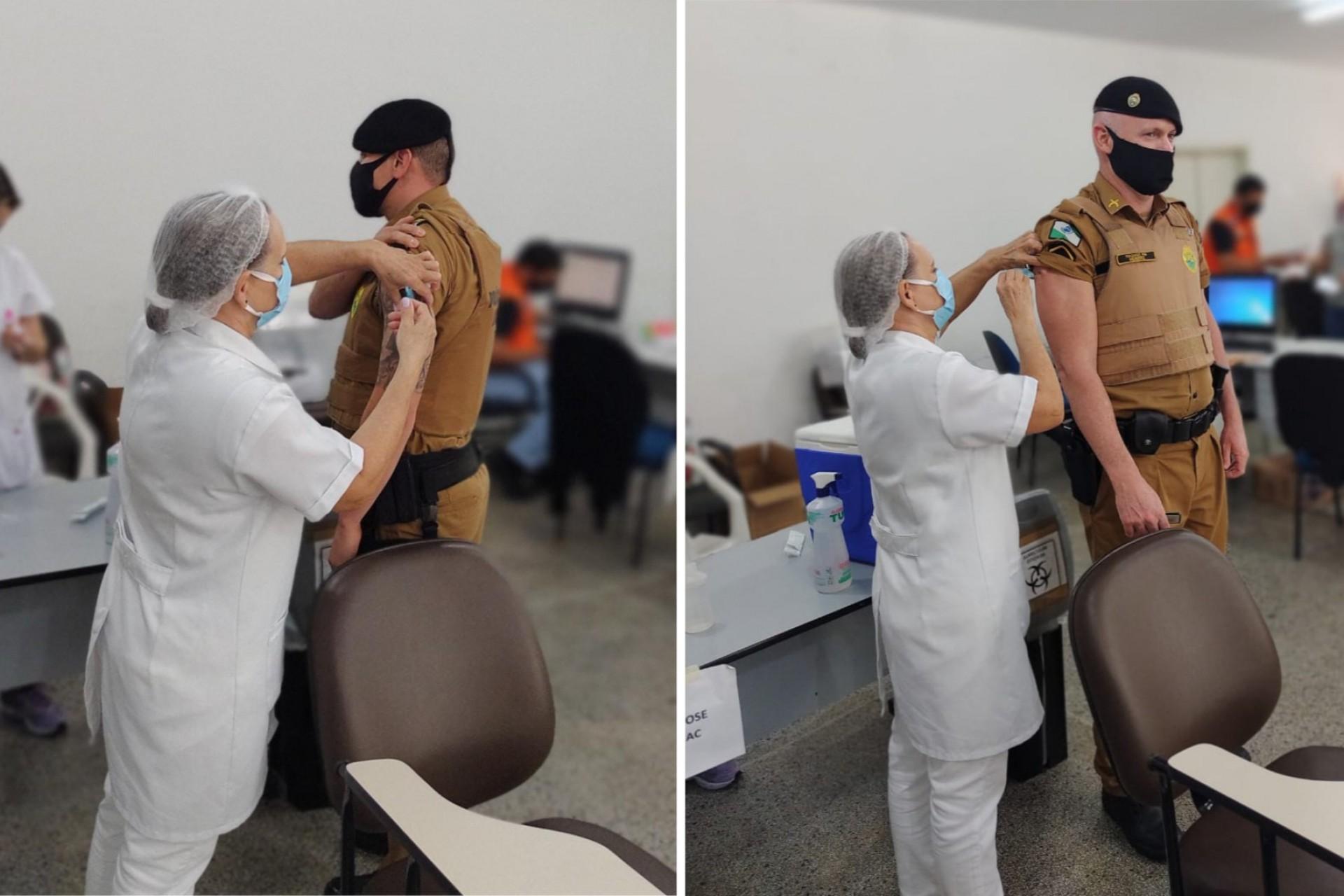 Covid-19: Quatro Policiais Militares de Missal tomam segunda dose da vacina