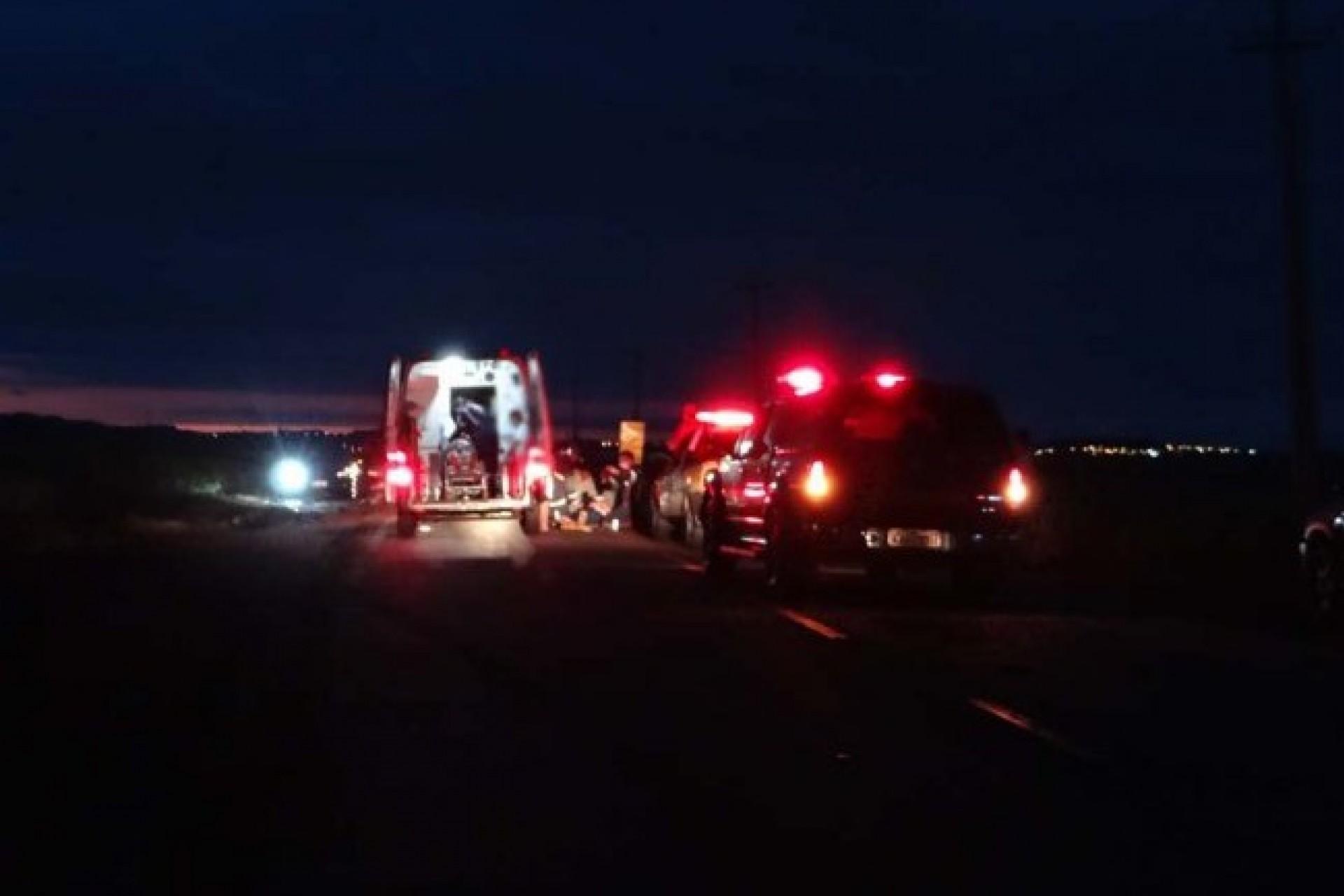 Duas pessoas ficam feridas em acidente na PR 495 entre Santa Helena e Missal