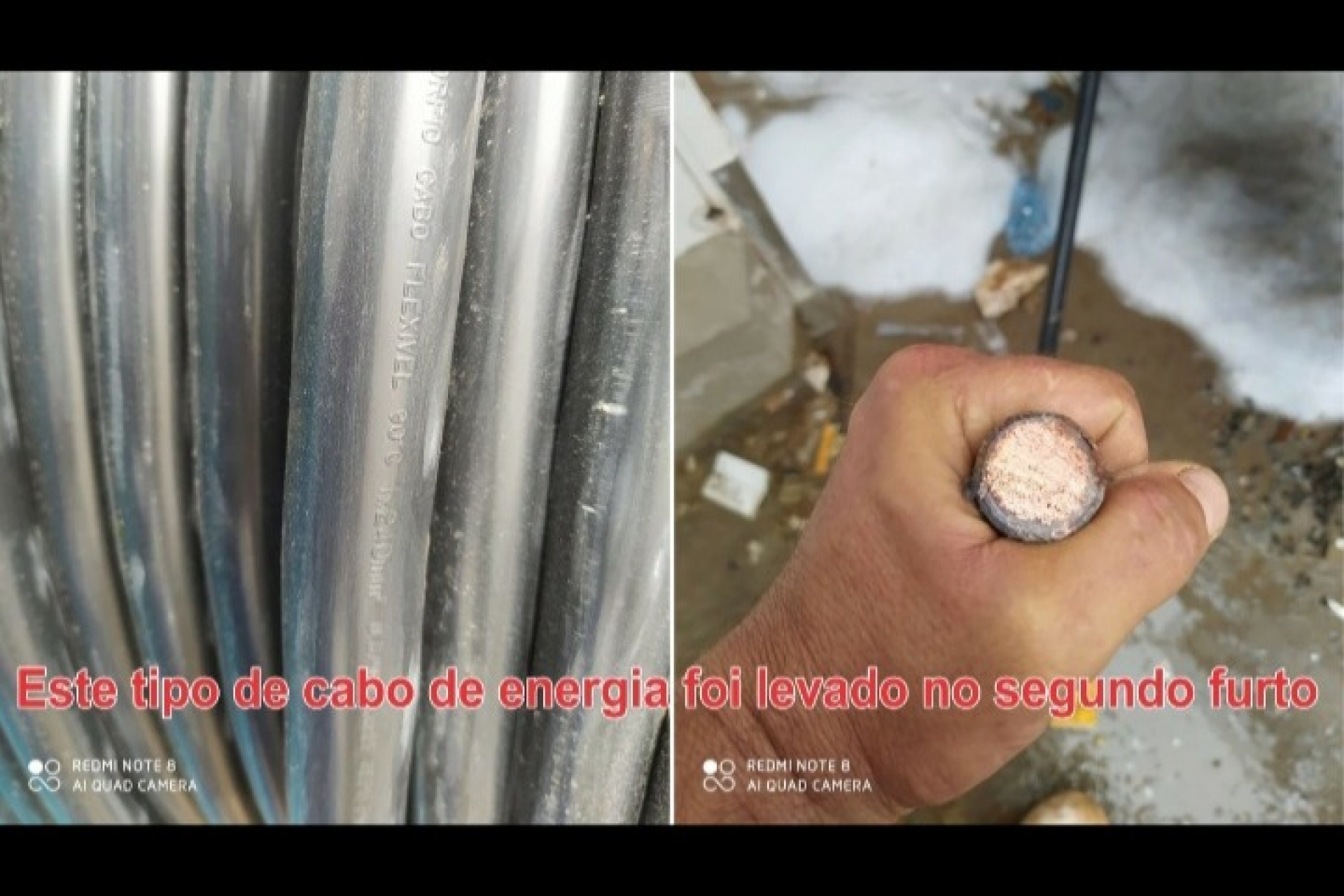 Friella é alvo de roubo de cabos de energia; vídeo mostra ladrões em ação