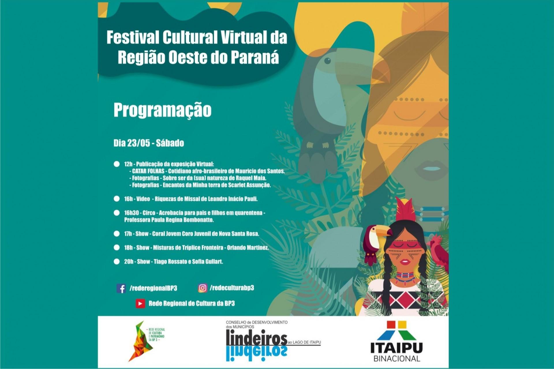 Hoje tem live de missalense no Festival Cultural Virtual da Região Oeste do Paraná