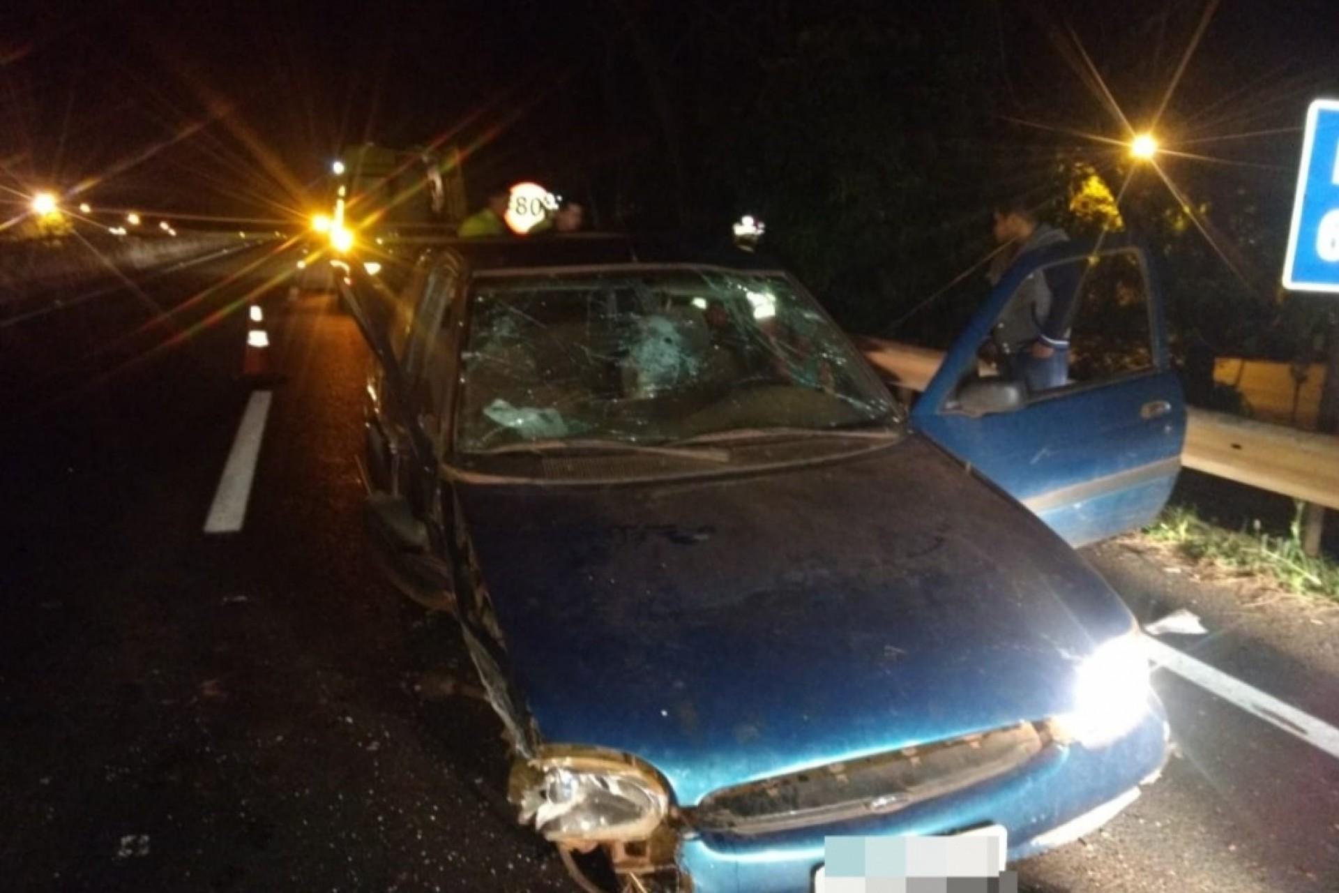 Irmãos ficam feridos em acidente na BR-277 em São Miguel