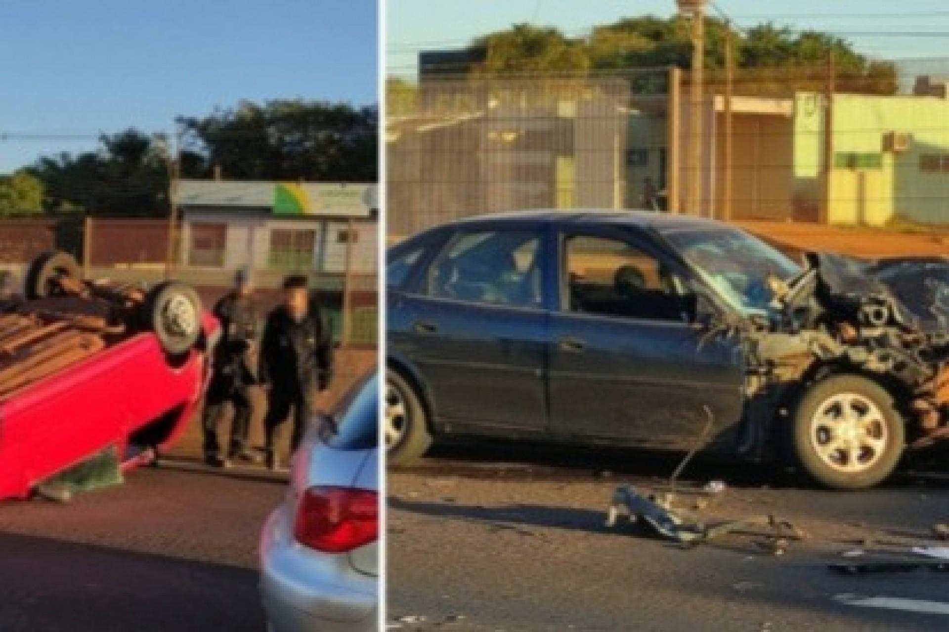 Medianeira: Dois acidentes são registrados em sequência na BR 277