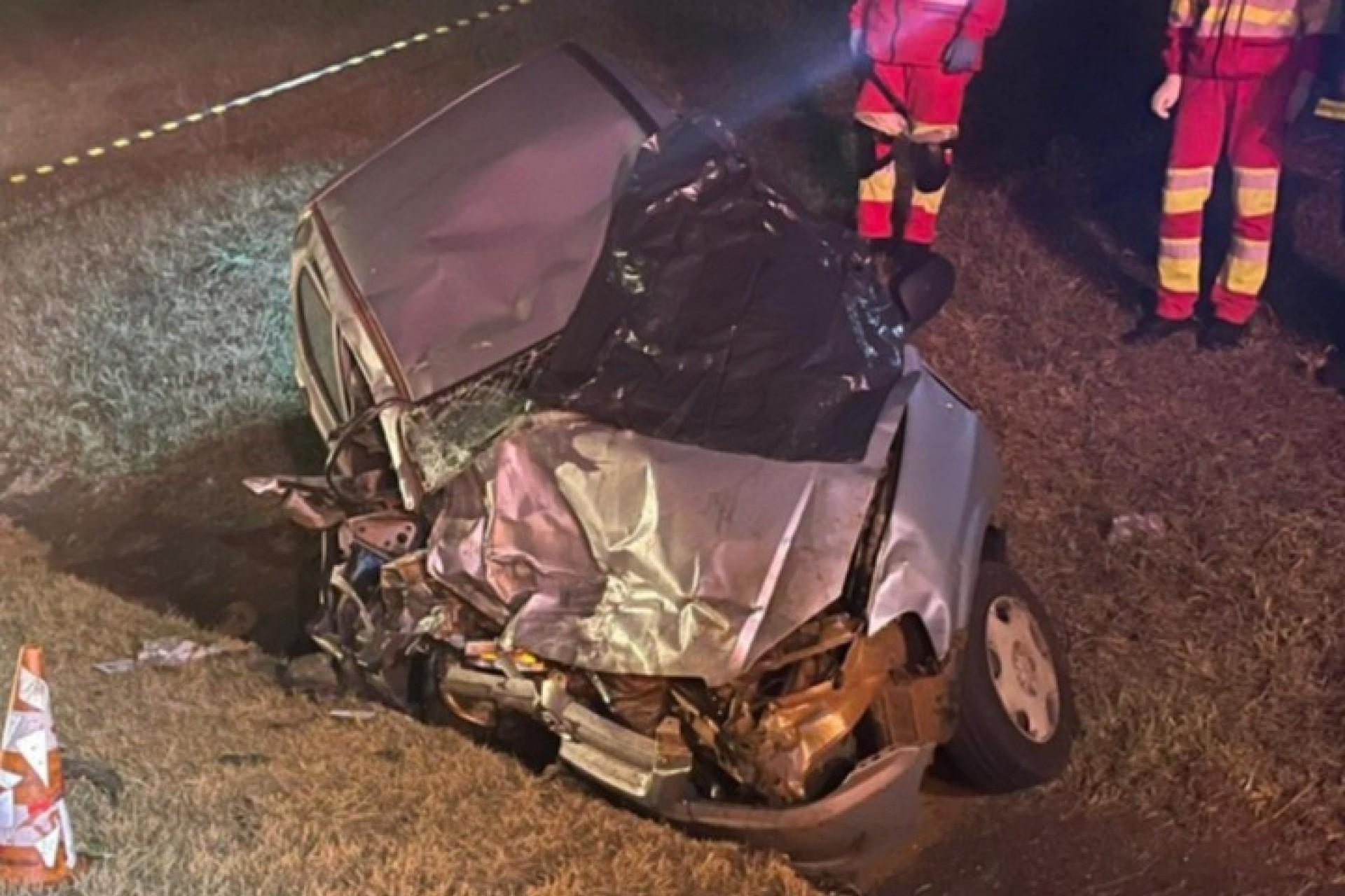 Medianeira: Veículo na contramão causa acidente com óbito na BR 277