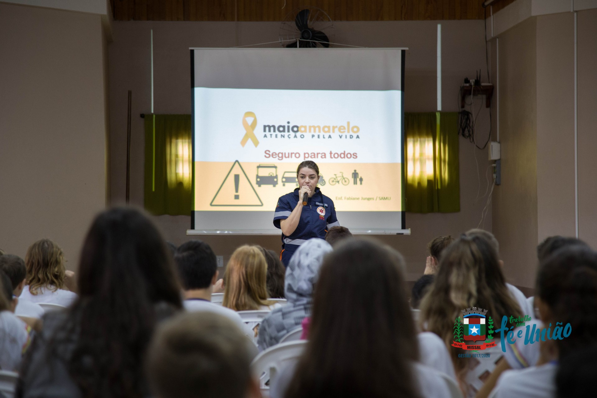 Missal desenvolve atividades alusivas ao Maio Amarelo nas Escolas
