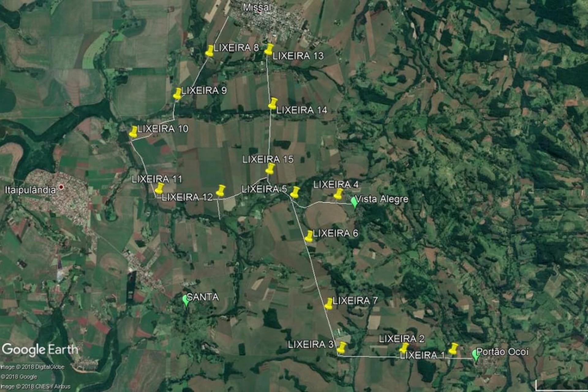 Missal: Município disponibiliza Bolsas de Ráfia no percurso para Imagem de Aparecida em Itaipulândia