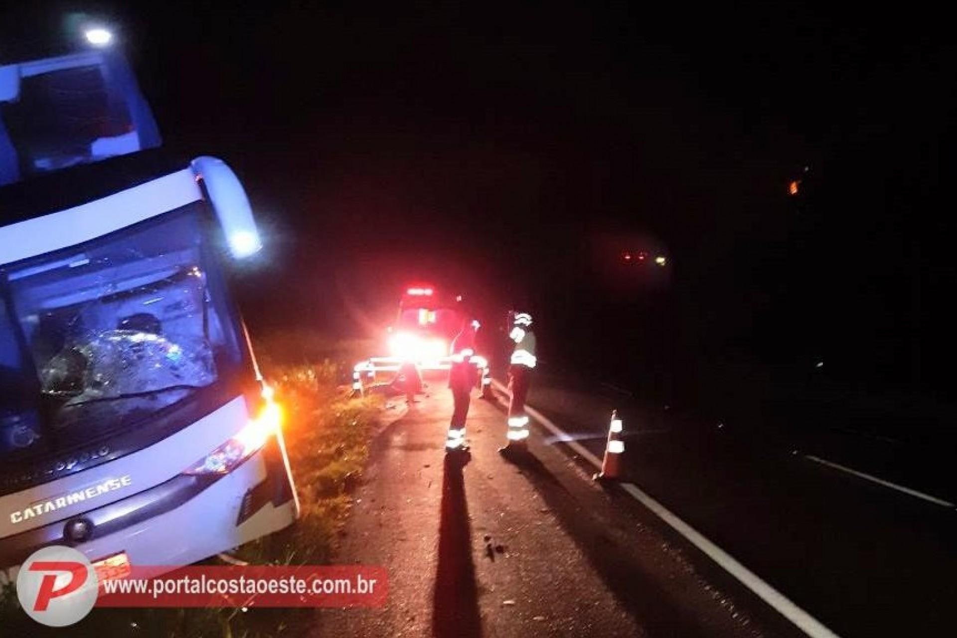 Mulher morre atropelada por ônibus na rodovia BR 277, em São Miguel do Iguaçu