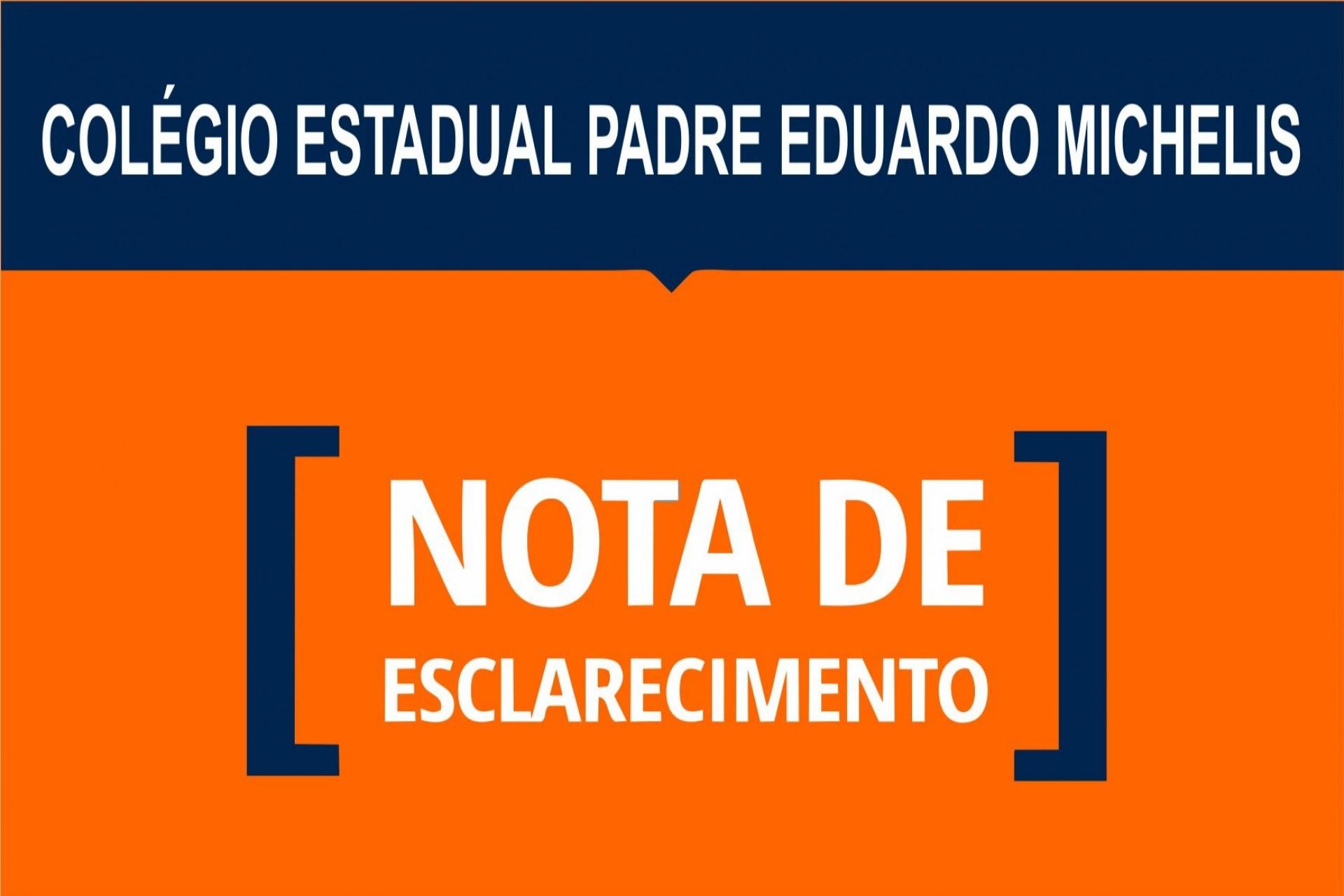 Nota de Esclarecimento sobre briga ocorrida no colégio dia 22/10
