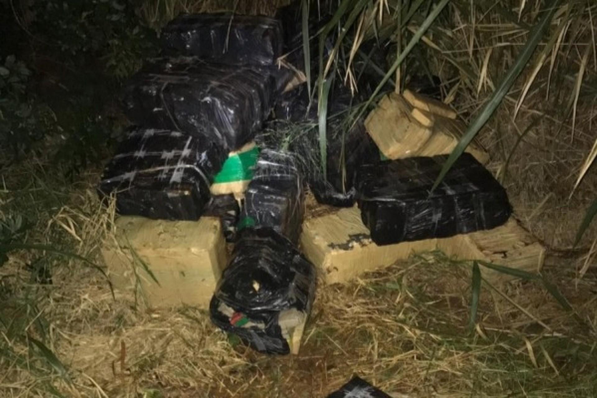 PF e Força Nacional apreendem mais de 1 tonelada de maconha em Itaipulândia