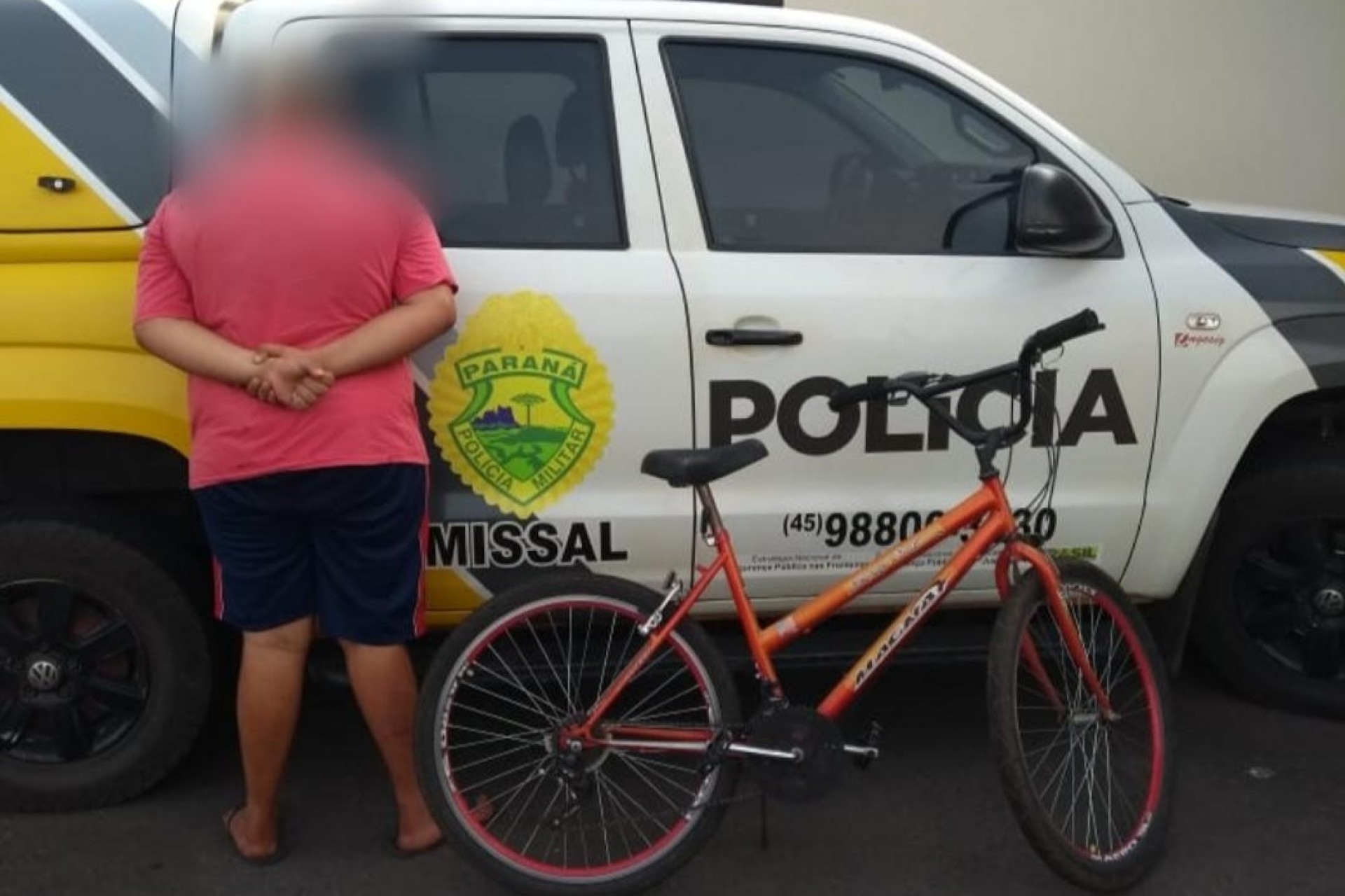 Polícia Militar de Missal recupera bicicleta furtada e apreende menor