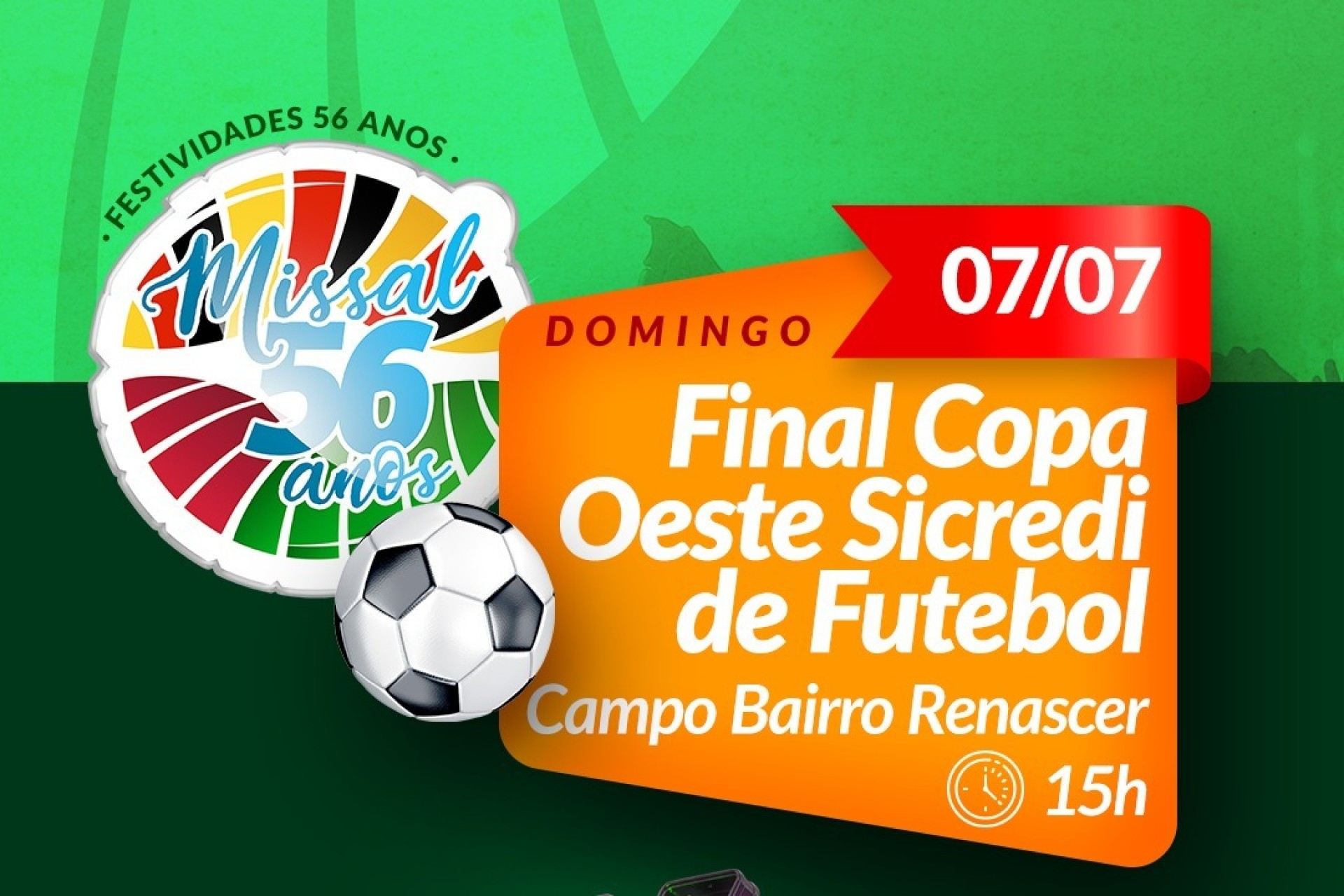 Rede Costa Oeste de Comunicação transmite final da Copa Oeste Sicredi de Futebol no próximo domingo