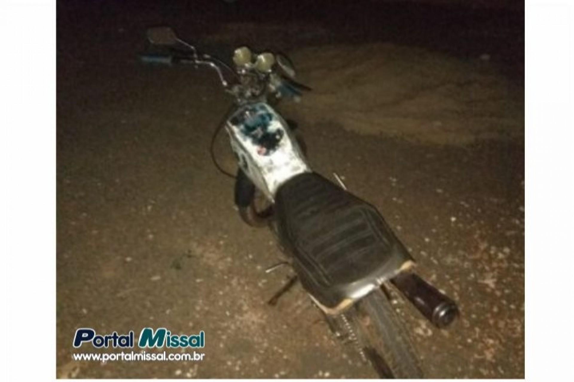 ROTAM detém condutor e apreende moto que transitava com farol apagado em Itaipulândia