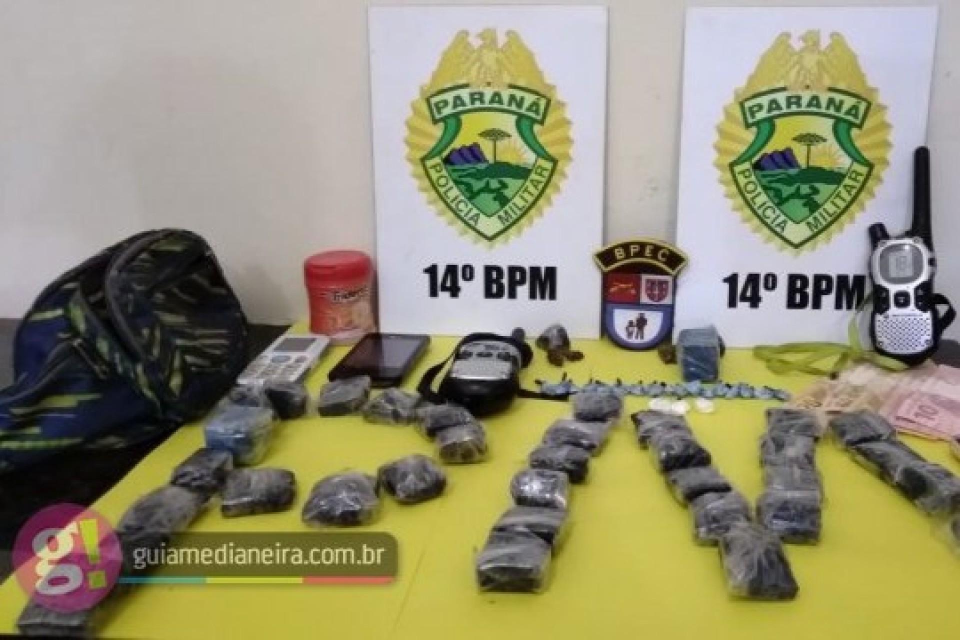Três são detidos por tráfico de drogas no Bairro Parque Independência em Medianeira