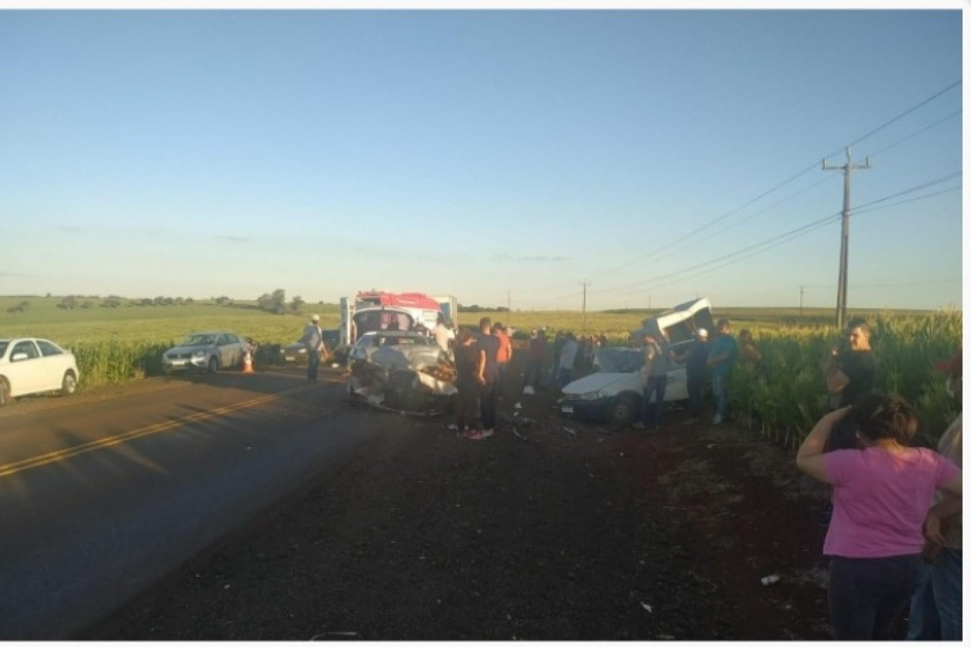 Veículo de Missal se envolve em grave acidente na PR-488 em Vera Cruz do Oeste