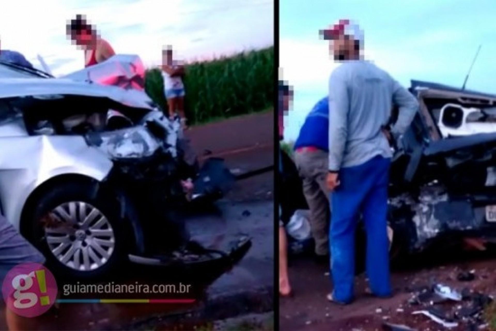 Veículos se envolvem em acidente na PR 495