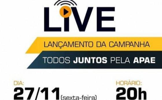 """A LIVE E HOJE: APAE de Missal lança campanha """"Todos juntos pela APAE"""""""