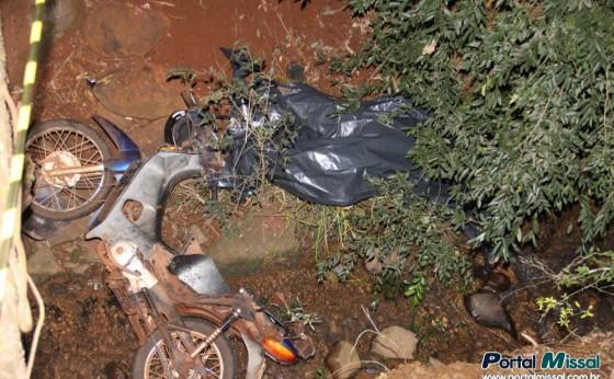 Acidente de moto causa óbito na estrada que liga a cidade a prainha de Vila Natal em Missal
