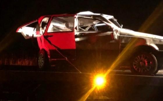 Acidente deixa três pessoas feridas na PR-495 em Medianeira