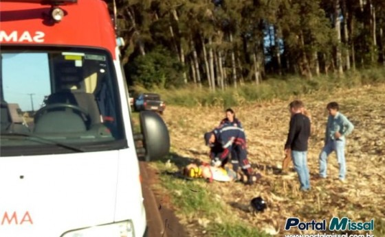 Acidente e registrado na estrada da Santa em Itaipulândia