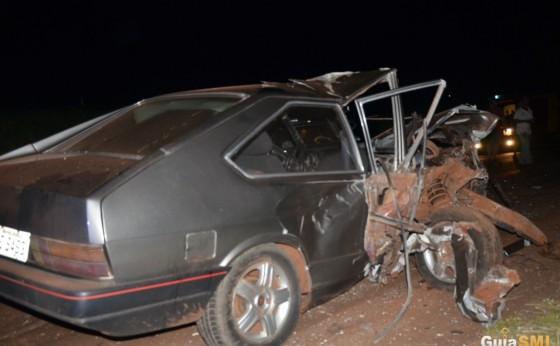 Acidente envolve dois veículos e uma moto na PR 497