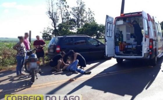 Acidente  na PR-495  próximo a Rodoviária de Missal deixa uma pessoa ferida