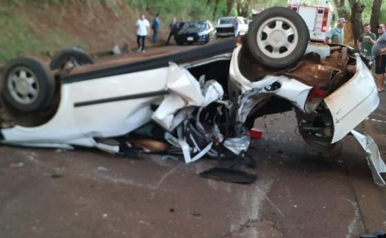Acidente na PR 497 deixa um morto e um ferido