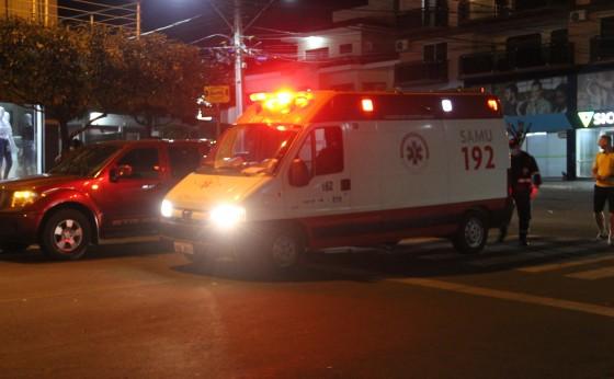 Acidente no centro de Missal: motociclista sofre várias fraturas