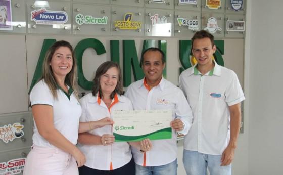 ACIMI e SICREDI -  Entregam a Premiação do Concurso de Empresas e Casas decoradas