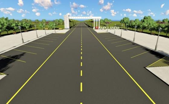 Administração de Itaipulândia executa estrada ao lado do Portal para que as obras avancem