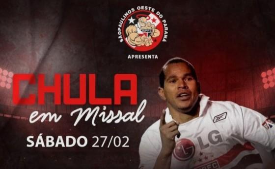 Aloísio Chulapa em Missal: Almoço beneficente terá presença do ex-jogador São-Paulino