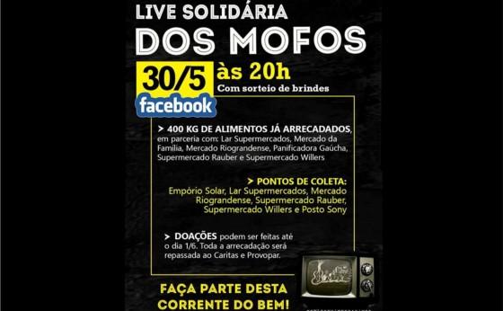 Atenção, Missal e Região: Dia 30/5 a partir das 20h00 vai rolar a live solidária dos Mofos