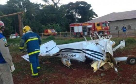 Avião cai e deixa vítimas fatais em Toledo