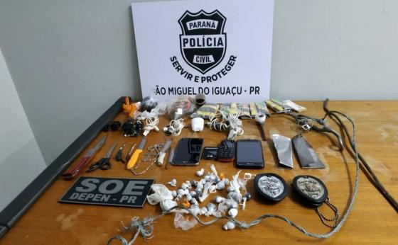 Bate grade na cadeia de São Miguel resulta na apreensão de celulares, drogas e ferramentas