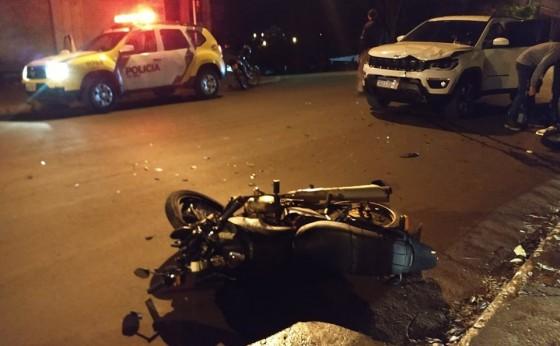 Batida frontal deixa motociclista ferido em São Miguel
