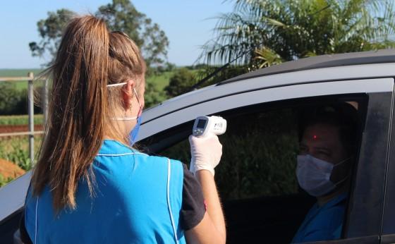Bloqueio sanitário teve início na manhã de hoje em Itaipulândia