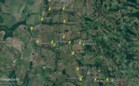 Bolsas de Ráfia são disponibilizadas no percurso para Imagem de Aparecida em Itaipulândia