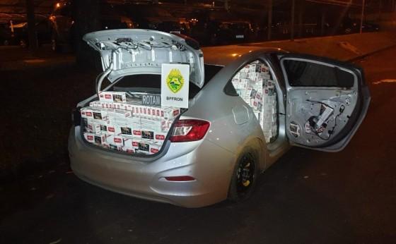 BPFRON apreende carro carregado com cigarros contrabandeados em Missal