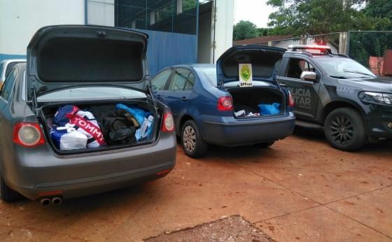 BPFron apreende dois veículos com contrabando na PR 495