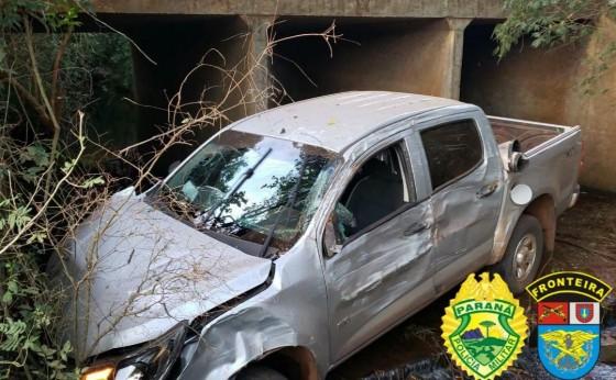 BPFRON apreende veículo durante Operação Hórus em Santa Helena
