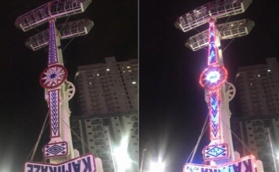 Brinquedo trava no ar e deixa pessoas de cabeça para baixo a 18 metros de altura em parque