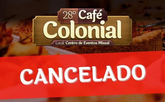 Café Colonial de Missal de 2020 é cancelado