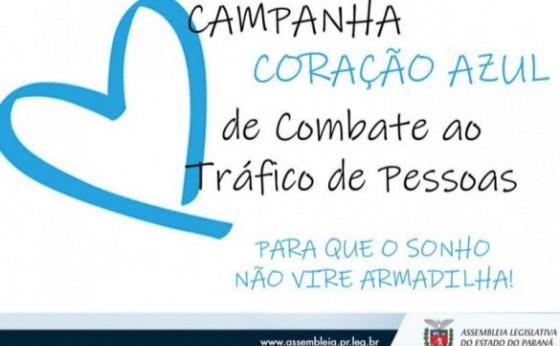Campanha Coração Azul faz alerta sobre o tráfico de pessoas