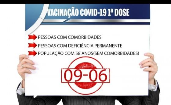 Campanha de vacinação contra a Covid-19 para pessoas com 58 anos fora dos grupos prioritários