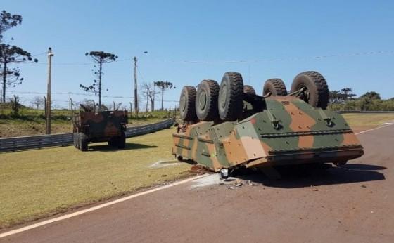 Capotamento de Blindado em Cascavel: Caso será apurado pelo Exército